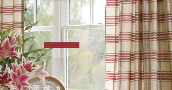 "Country Curtains catalog - ""Greenwich Plaid"" panels ... 