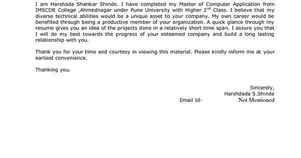 Best Resume Cover Letter Format For Freshers Govt JobCover Letter For Resume Cover Letter