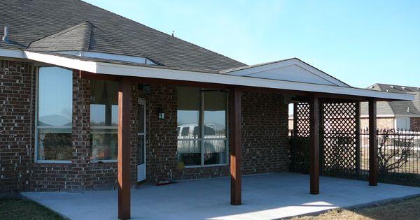 Cement Patio Cedar Wood Patio Cover With Cedar Posts