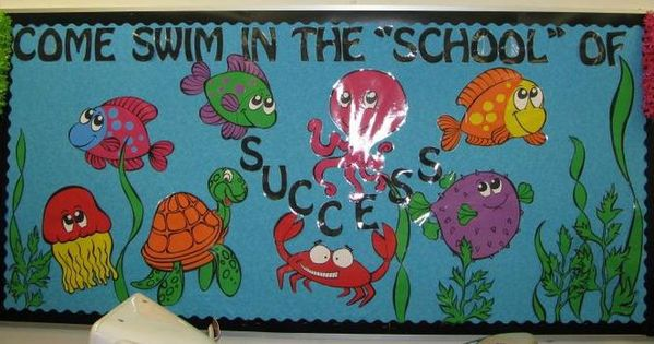 Ocean Decoration For Classroom ~ Swim in the quot school of success back to bulletin