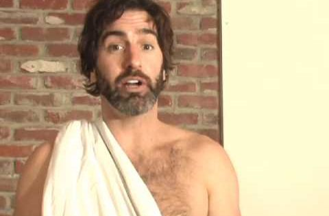 how to make a roman toga from a sheet
