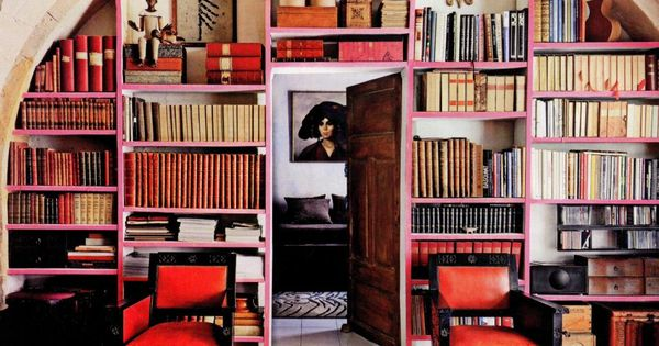 Library in France ElleDecor
