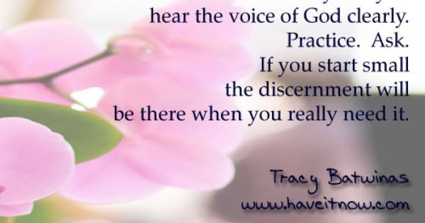 how to hear god voice clearly