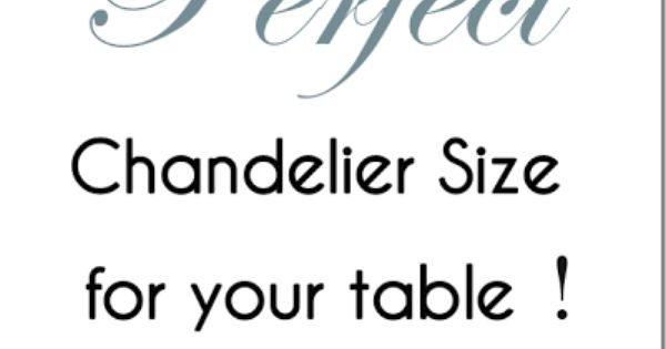 how to pick the perfect chandelier size with printable