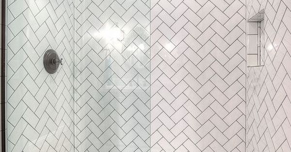Soho White Ceramic Subway Tile 3 X 6 In Herringbone