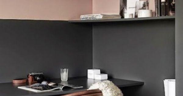 Idee abbinamento colori pareti nero e rosa cipria for Pareti rosa cipria