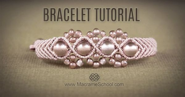 Wavy Macramé Flower Bracelet Tutorial by Macrame School ...