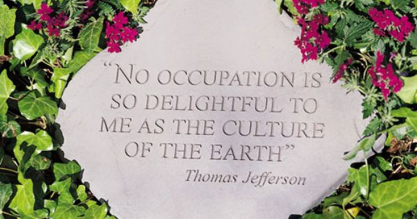 Stepping Stone (or Wall Hanging) With Thomas Jefferson's