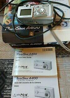 Canon Powershot A400 Digital Camera Silver Orig Box All Digital Camera Digital Powershot