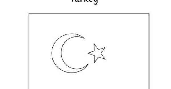 Turkey Flag Colouring Page Flag Coloring Pages Turkey Flag
