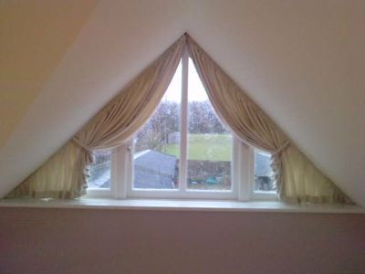 study window drapes curtains swags pelmets valances. Black Bedroom Furniture Sets. Home Design Ideas