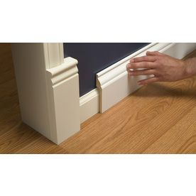 Rapidfit 5 1 4 In X 8 Ft Primed Mdf Baseboard Moulding Actual