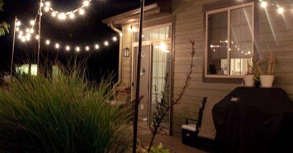 put removable posts on roof deck: Decoration, DIY Outdoor Lighting String: Outdoor String Lights ...