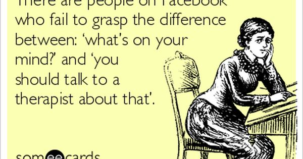 This e card just summed up facebook!