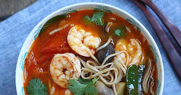 15-Minute Tom Yum Noodle Soup | Recipe | Noodle Soups, Quick Lunch ...