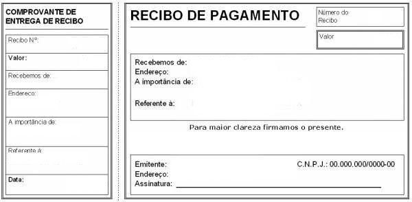 Modelo De Recibo Pronto Recibo De Pagamento Modelos De