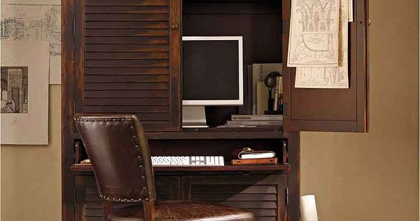 Armoire for the home office office space pinterest armoires computer armoire and office - Computer armoires for small spaces property ...