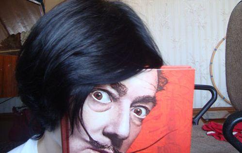 Salvador Dali's face