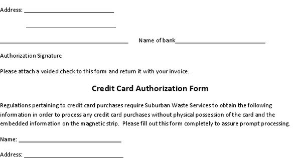 Payment Authorization Form Letter Sample Credit Card Documents Pdf