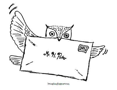 Harry Potter Unit Worksheet Owl Post Coloring Page Harry Potter