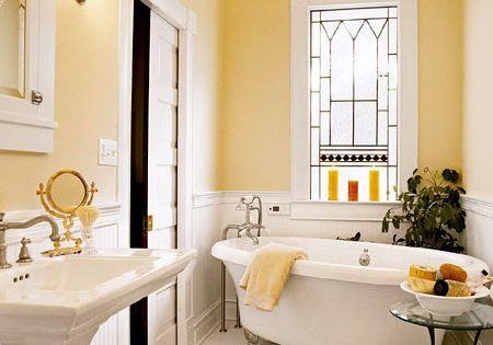 Pick your palette 5 tips for choosing a color scheme vintage bathrooms pedestal and pocket doors - Choose bathrooms palette ...