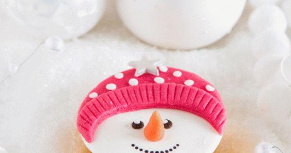 cupcake snowgirl
