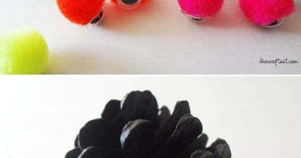 pinecone spiders: easy halloween craft for kids. Perfect for all the pine