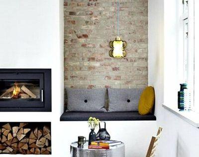 7 cheminees avec insert tendance pour un salon design for Amenagement coin cheminee