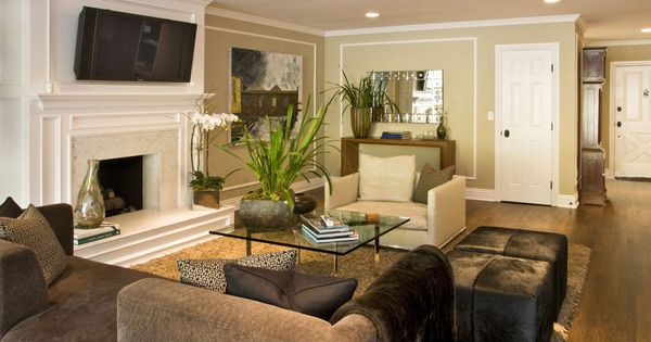 Cream and chocolate living room for the home pinterest for Jeff lewis living room designs