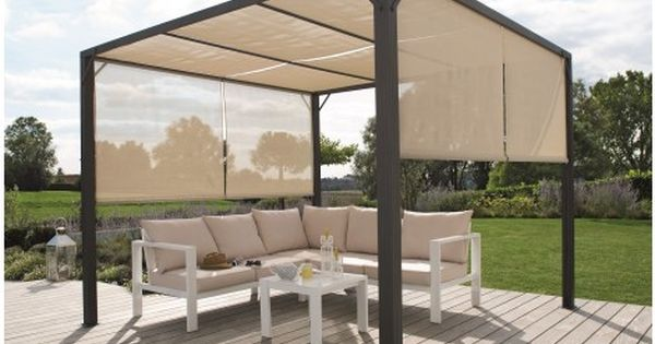 Tonnelle Double Store 4x3m Outdoor Furniture Sets Outdoor Decor Outdoor Furniture