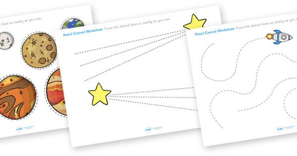 Worksheet Works Pencil Check : Space themed pencil contol worksheets