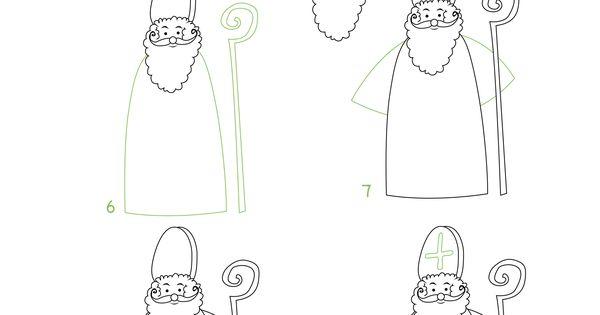 apprendre dessiner saint nicolas en quelques tapes saint nicolas pinterest. Black Bedroom Furniture Sets. Home Design Ideas