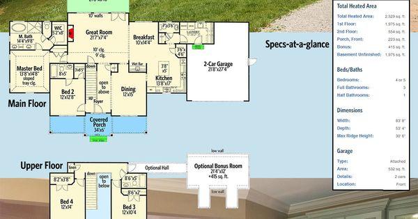 Plan 24369TW: Gorgeous Farmhouse House Plan With Optional