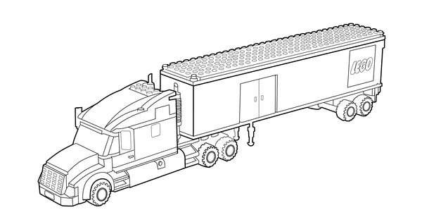 lego truck coloring page for kids printable free lego coloring page cars pinterest lego. Black Bedroom Furniture Sets. Home Design Ideas