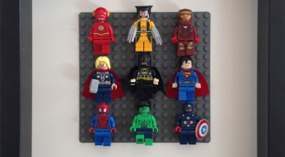 Frame Lego Super Heroes in a shadow box. | 23 Ideas For