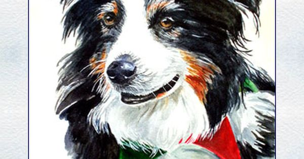 Pet Dog Cat Horse Animal Watercolor Portrait Paintings By