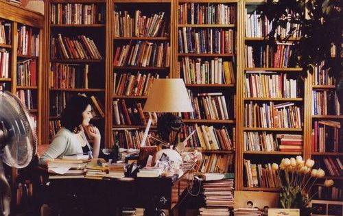Nigella Lawson's workspace. books writer foodwriter nigellalawson workspace inspiration