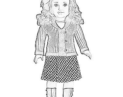 American Girl Printables American Girl Doll Coloring