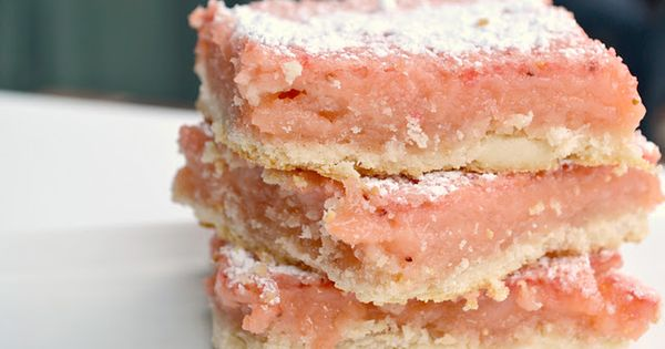 strawberry lemonade bars - my favorite dessert is a good lemon bar,