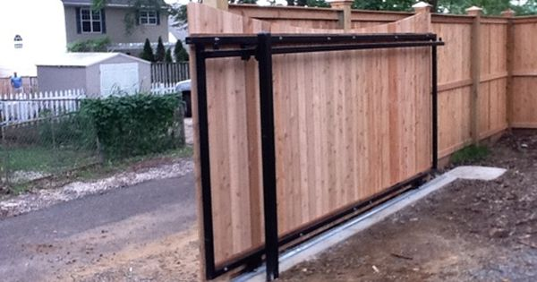 A sliding gate instead of swing gate yes storage for Carport gate ideas