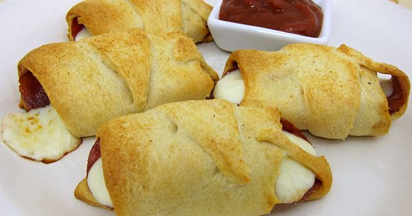 Crescent Pepperoni Roll-Ups. 1 can refrigerated crescent rolls, 40 slices pepperoni, 4