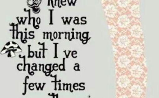 Trippy Alice in wonderland quote shrooms