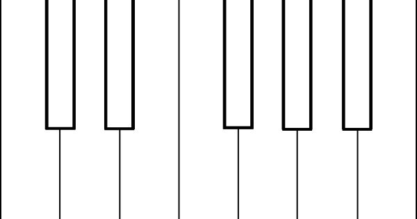 piano keys coloring sheet clip art