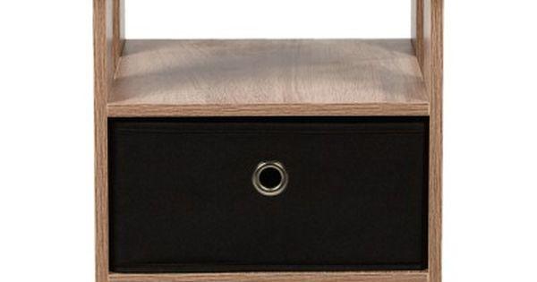 Table De Chevet Utah Naturelle Et Noire 1 Tiroir Et 1 Niche Table De Chevet Chambre Meuble Gifi Table De Chevet Meuble Gifi Bout De Canape
