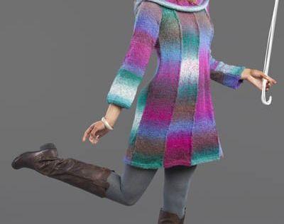 Umbrella Knitting Pattern : Free knitting pattern for umbrella dress