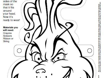 Fan image for grinch mask printable