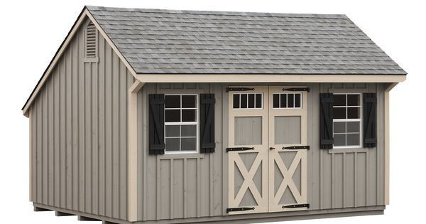 Horizon structures 10x16 pine board and batten garden shed for Quaker barn home designs