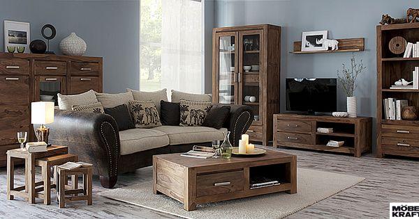 rustikales wohnzimmer im industrie look http://www.moebel-kraft.de