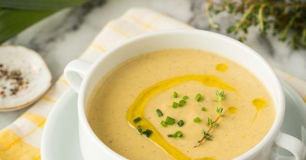 Creamy Roasted Cauliflower Soup | Recipe | Cauliflower Soup, Roasted ...
