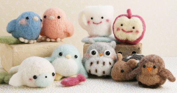 Super Cute varieties of needle felting buddies kawaii japan felt craft ideas